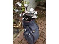 Bullet left handed golf clubs and bag