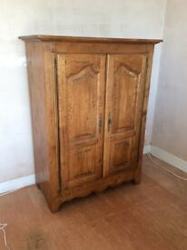 Solid French oak TV cabinet