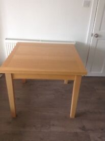 Dining table, extends two ways, Habitat.