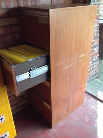 Large wooden Filing Cabinet with 4 drawers