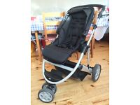 Mamas and Papas Zoom travel system, chassis, seat unit, carry cot and car seat