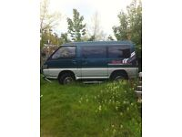 MITSUBISHI, DELICA, 4X4, 7 SEATS , NO MOT , SLIGHT BLOW ON HEAD GASKET, SOLID UNDERNEATH