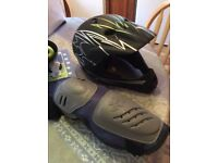 Mountain bike, Downhill helmet and elbow pads