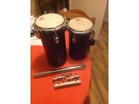 2 piece Vintage TAMA OCTOBAN set. *Rare* (+ two-way multi drum clamp)