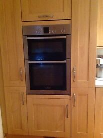 Kitchen for sale with Bosch double oven vgc