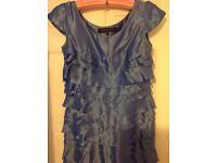 French connection silk dress size 10