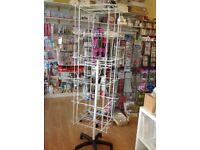 Retail Display - 96 Hook floor standing spinner stand