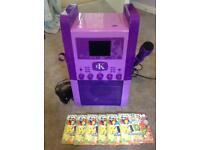 Easy Karaoke Machine Purple, 6 CDs, excellent Condition, Full working order