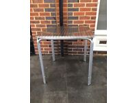 Outdoor metal square table