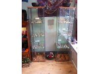 7 x ikea cabinets and 2 handmade jewellery display cabinets for sale