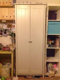 Painted wood wardrobe