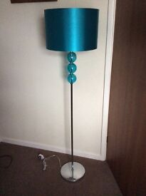 Modern new standard lamp and shade.