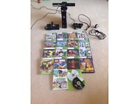 Xbox 360 with kinect sensor and controller. Includes 18 great games like minecraft and Fifa