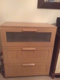 Ikea chest of drawers - BRAND NEW UNUSED. Bought and put together - ready to use. Buyer to collect.