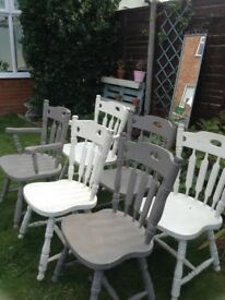Six Chairs For Sale Including Two Carver