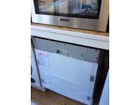 Integrated dishwasher new no package 12 months gtee £179
