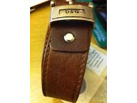 D & G Brown Leater Belt