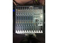 Mackie FRS 1700 PA amp and FX12 mixer bundle (cables included)
