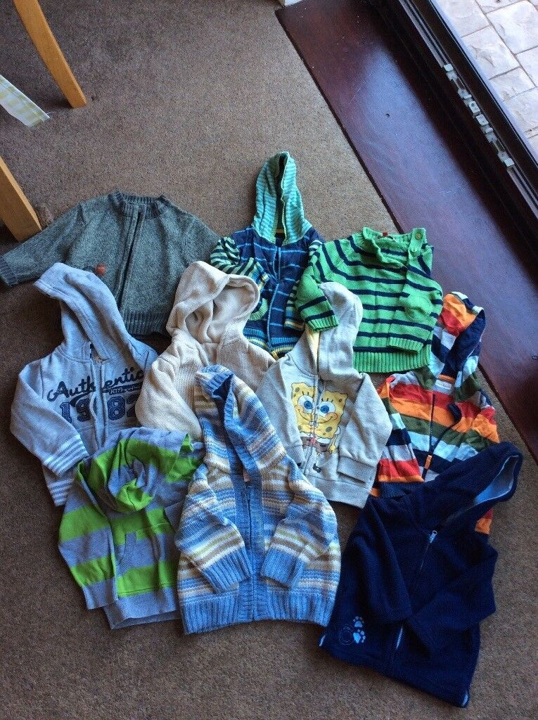 Baby boy clothes bundle: hoodies and cardigans