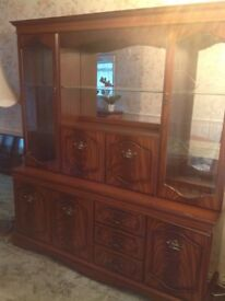 Wooden display large wall unit