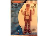 Hippie costume size kids large ages 8-11