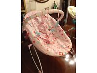 Baby Bouncing/Vibrating Chair in Pink