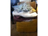 upholstery fabric/zips/ribbons&braids
