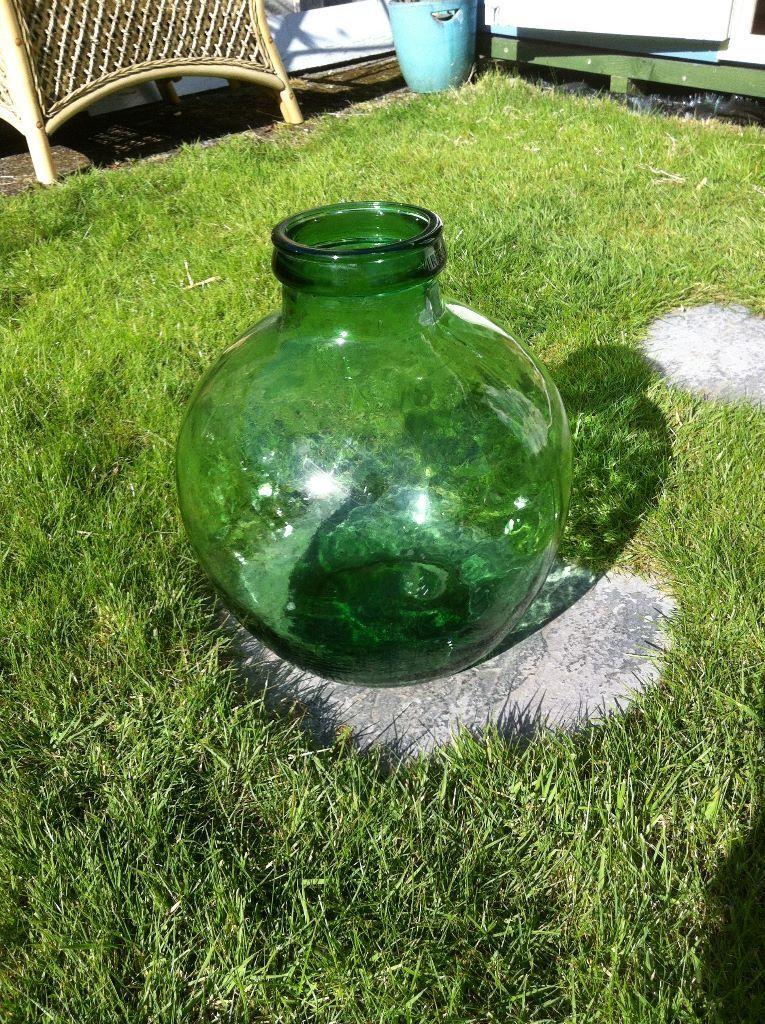Green Glass Bottle Terrarium Bottle Garden In Stoke On