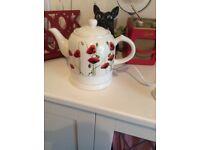 Poppy tea pot electric kettle