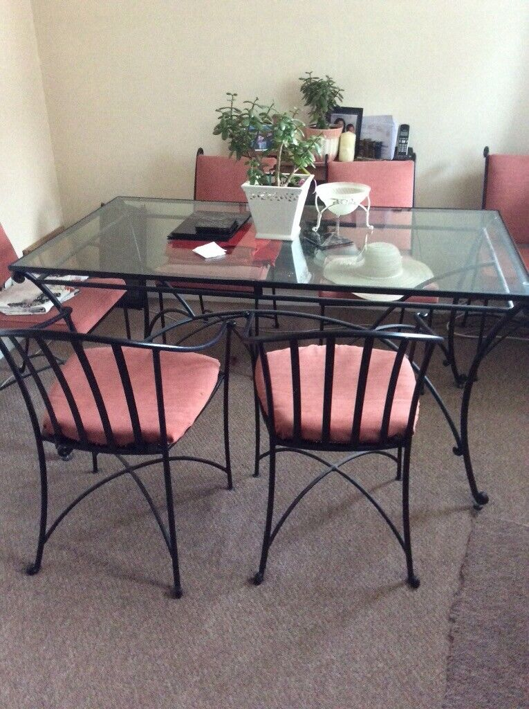 Wrought Iron Dining Table And 6 Chairs In Halesowen West