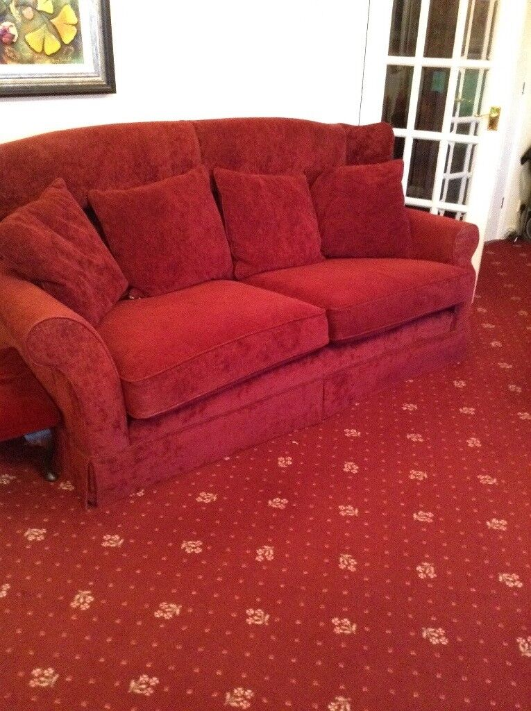 Large Dark Red Sofa