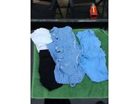 Girls school uniforms tops and PE tops and shorts