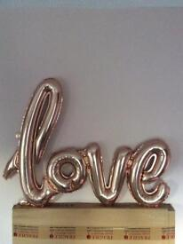 Rose Gold 'Love' Balloon decoration