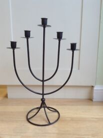 Cast Iron Five Candle Candlestick
