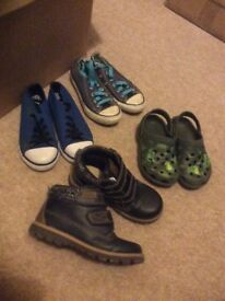 Selection of size 12 boys shoes