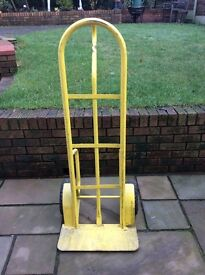 Heavey duty Sack Trolley colour yellow rubber tyres