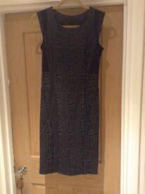 Grey & Black Dress - Size 6 (fits 6-8) Next
