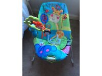 Musical baby bouncer, good clean condition, from smokefree and pet free home,