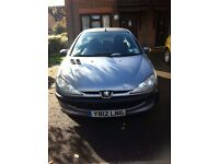 2001 Peugeot 206LX in excellent condition and new MOT cheap for quick sale
