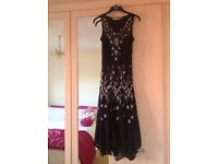Beautiful Jacques Vert Black Sequin embellished Special Ocassion/Party Dress