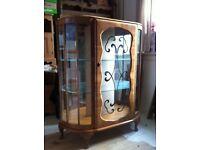 Superb Rare Vintage Art Deco Display Glass Cabinet / Can Deliver