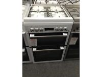 Beko 60cm white gas cooker with glass lid £350 RRP £550 new/graded 12 month Gtee