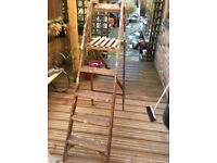 Vintage wooden step ladders ideal for displaying items