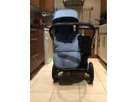 Bugaboo Donkey double pram with accessories including Moses basket and car seat adapter