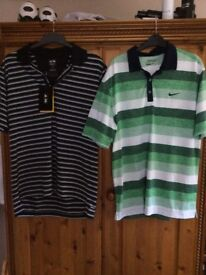 Nike and adidas Golf tops