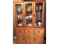 Pine Funiture, Job Lot, Sideboard, Display cabinet, Book Shelf, TV Stand, Dinning Table & Chairs