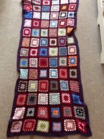 Huge handmade crochet blanket approx 6 foot cost £50