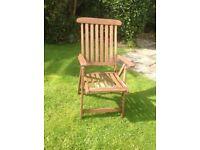 Solid teak steamer - garden chairs