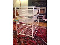 White storage drawers (Ikea Algot range)