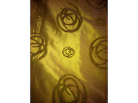 CURTAINS - lined/good condition - with soft sheen.
